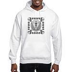 leonardo skull Hooded Sweatshirt