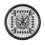 leonardo skull Large Wall Clock
