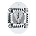 leonardo skull Ornament (Oval)
