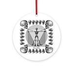 leonardo skull Ornament (Round)