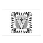 leonardo skull Postcards (Package of 8)