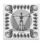 leonardo skull Tile Coaster