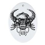 kuuma skull 1 Ornament (Oval)