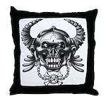 kuuma skull 1 Throw Pillow