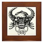 kuuma skull 1 Framed Tile