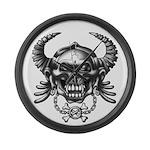 kuuma skull 1 Large Wall Clock