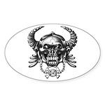 kuuma skull 1 Sticker (Oval 10 pk)
