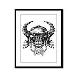 kuuma skull 1 Framed Panel Print