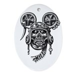 kuuma skull 2 Ornament (Oval)