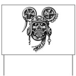 kuuma skull 2 Yard Sign