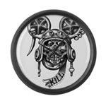 kuuma skull 2 Large Wall Clock