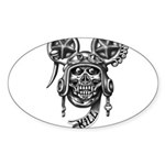 kuuma skull 2 Sticker (Oval)