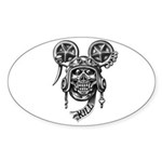 kuuma skull 2 Sticker (Oval 50 pk)