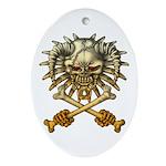 kuuma skull 3 Ornament (Oval)