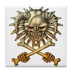 kuuma skull 3 Tile Coaster