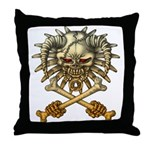 kuuma skull 3 Throw Pillow