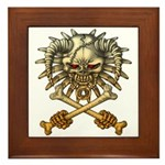 kuuma skull 3 Framed Tile