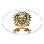 kuuma skull 3 Sticker (Oval 10 pk)
