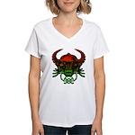 kuuma skull 4 Women's V-Neck T-Shirt