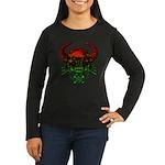 kuuma skull 4 Women's Long Sleeve Dark T-Shirt