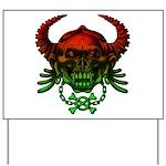 kuuma skull 4 Yard Sign