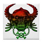 kuuma skull 4 Tile Coaster