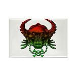 kuuma skull 4 Rectangle Magnet