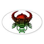 kuuma skull 4 Sticker (Oval 10 pk)