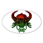 kuuma skull 4 Sticker (Oval 50 pk)