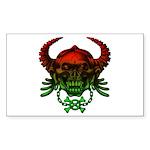 kuuma skull 4 Sticker (Rectangle 10 pk)