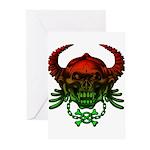kuuma skull 4 Greeting Cards (Pk of 10)