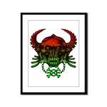 kuuma skull 4 Framed Panel Print
