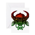 kuuma skull 4 Greeting Card