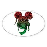 kuuma skull 5 Sticker (Oval 50 pk)
