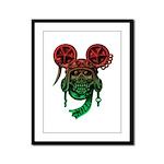 kuuma skull 5 Framed Panel Print