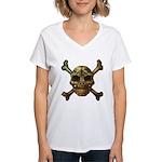 kuuma skull 7 Women's V-Neck T-Shirt