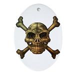 kuuma skull 7 Ornament (Oval)