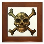 kuuma skull 7 Framed Tile