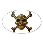 kuuma skull 7 Sticker (Oval 10 pk)