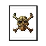 kuuma skull 7 Framed Panel Print