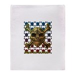 kuuma skull 8 Throw Blanket
