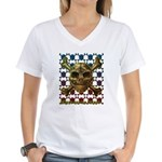 kuuma skull 8 Women's V-Neck T-Shirt