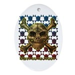 kuuma skull 8 Ornament (Oval)
