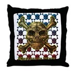 kuuma skull 8 Throw Pillow