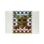 kuuma skull 8 Rectangle Magnet (100 pack)
