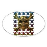 kuuma skull 8 Sticker (Oval 10 pk)