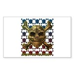 kuuma skull 8 Sticker (Rectangle 10 pk)