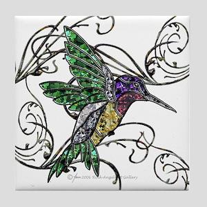 Gem Hummingbird Tile Coaster