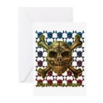 kuuma skull 8 Greeting Cards (Pk of 10)
