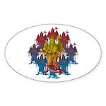 kuuma grimreaper Sticker (Oval)